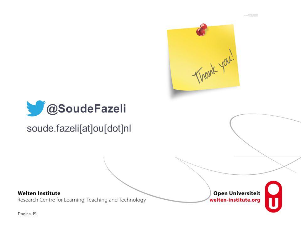 Pagina 19 soude.fazeli[at]ou[dot]nl @SoudeFazeli