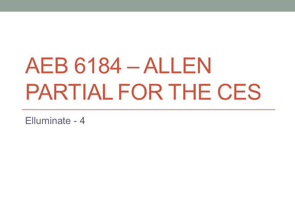 AEB 6184 – ALLEN PARTIAL FOR THE CES Elluminate - 4