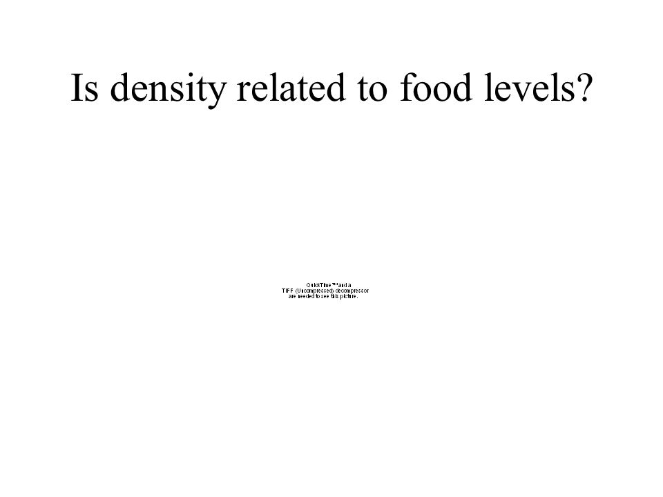 Is density related to food levels