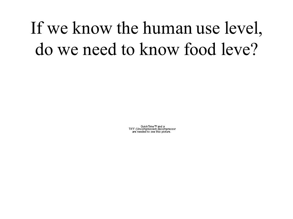If we know the human use level, do we need to know food leve