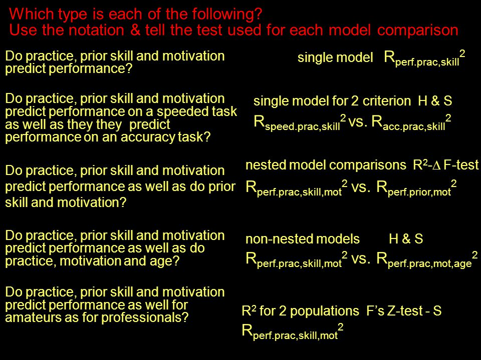 Do practice, prior skill and motivation predict performance.