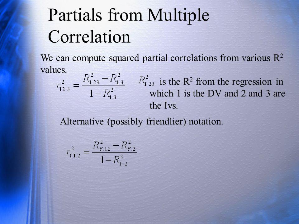 Review Give a concrete example (names of vbls, context) where it makes sense to compute a partial correlation.