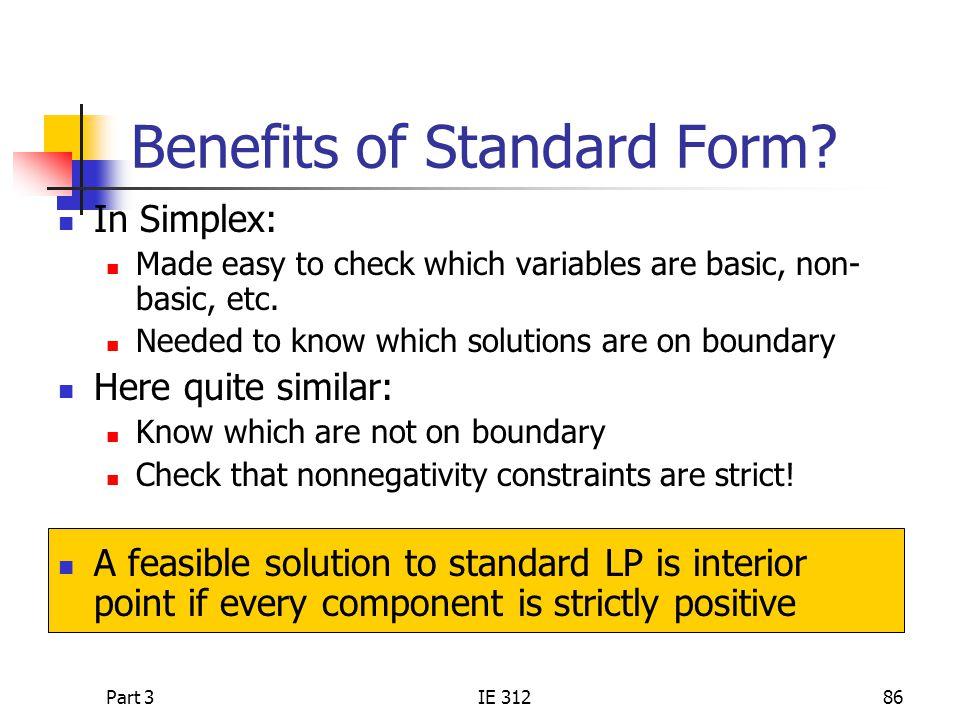 Part 3IE 31286 Benefits of Standard Form.