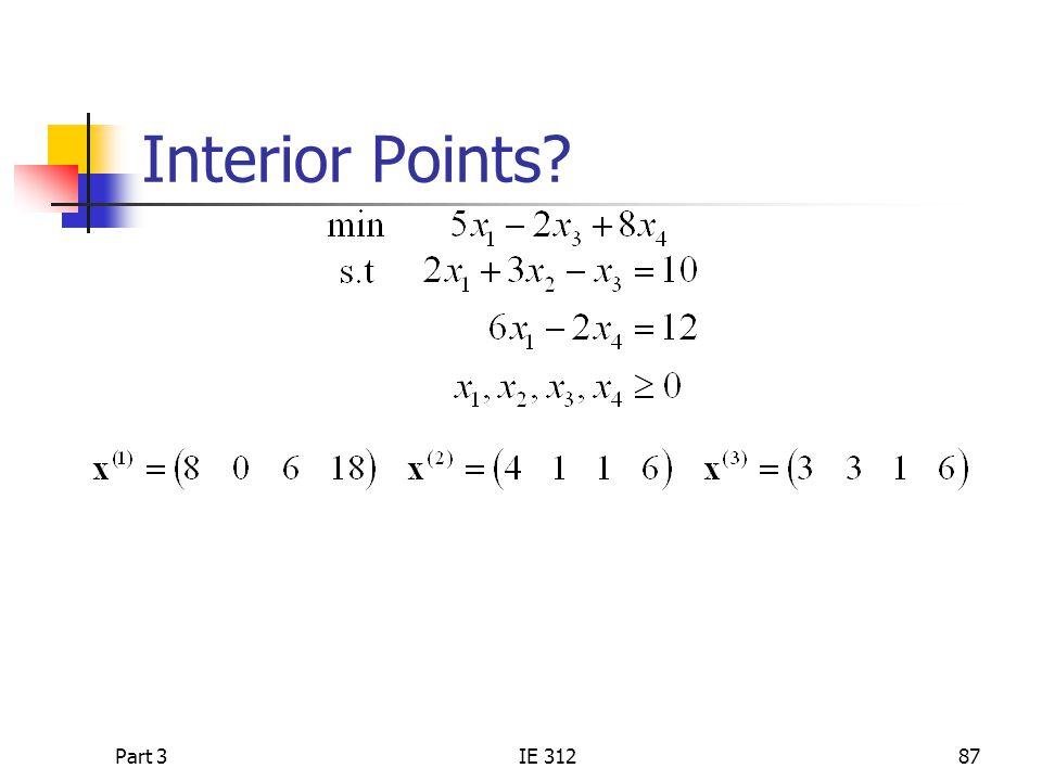 Part 3IE 31287 Interior Points?