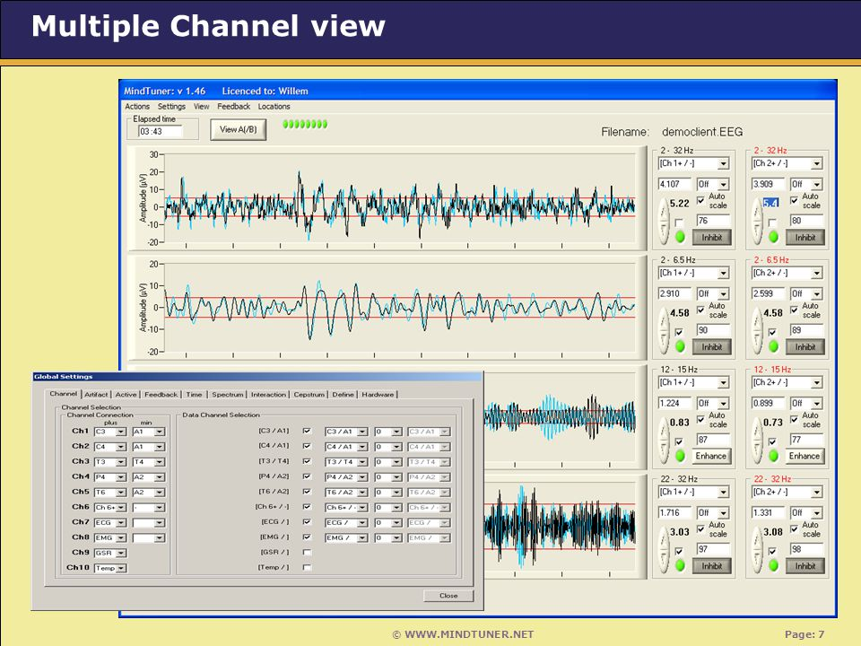 © WWW.MINDTUNER.NET Page: 7 Multiple Channel view