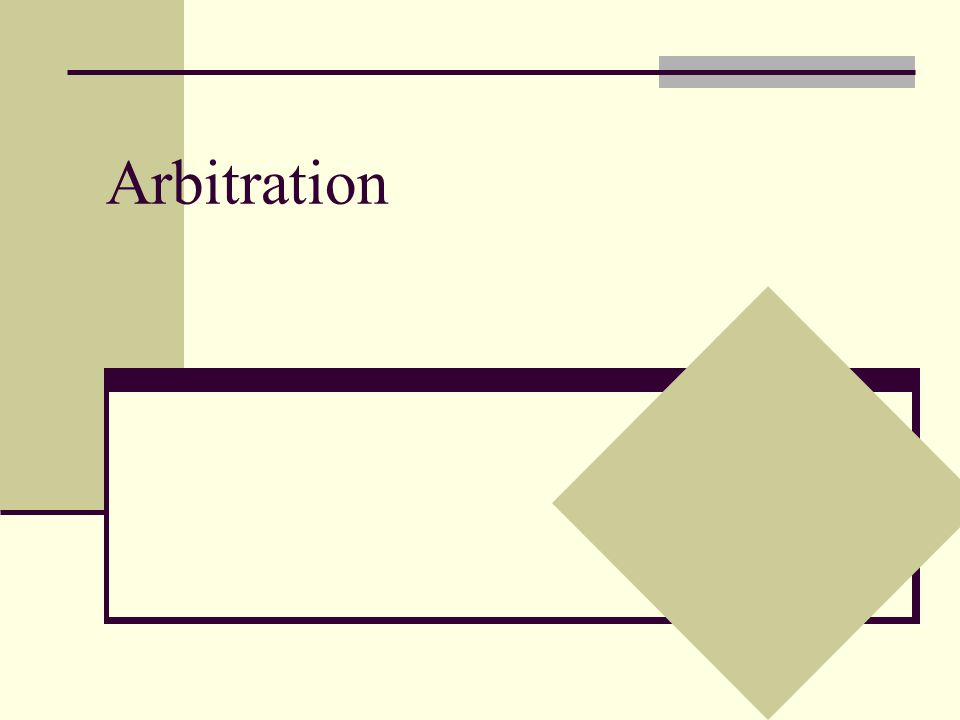 Introduction In this section we will consider the impact of outside arbitration on coordination games Specifically, we will consider two arbitration regimes Standard arbitration Final offer arbitration