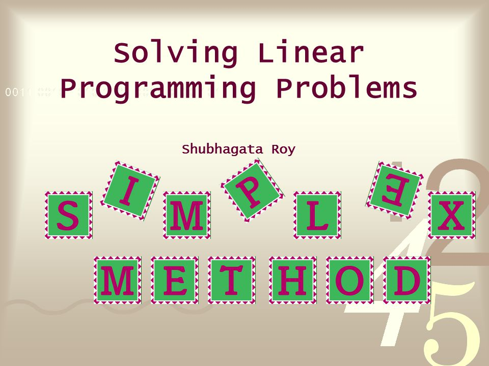 Q.What is a Linear Programming Problem. A.
