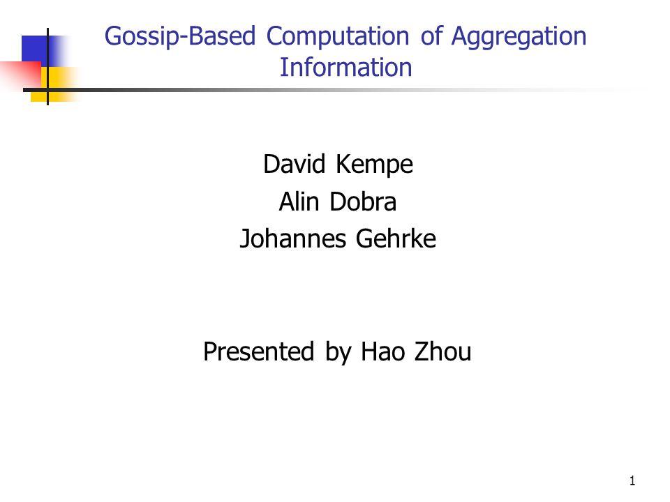 2 Content Introduction Gossip-based Algorithm Analyze Gossip-based Algorithm