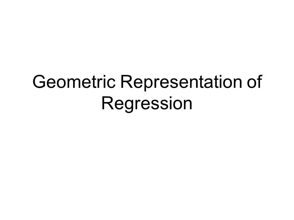 Geometric Representation of Regression