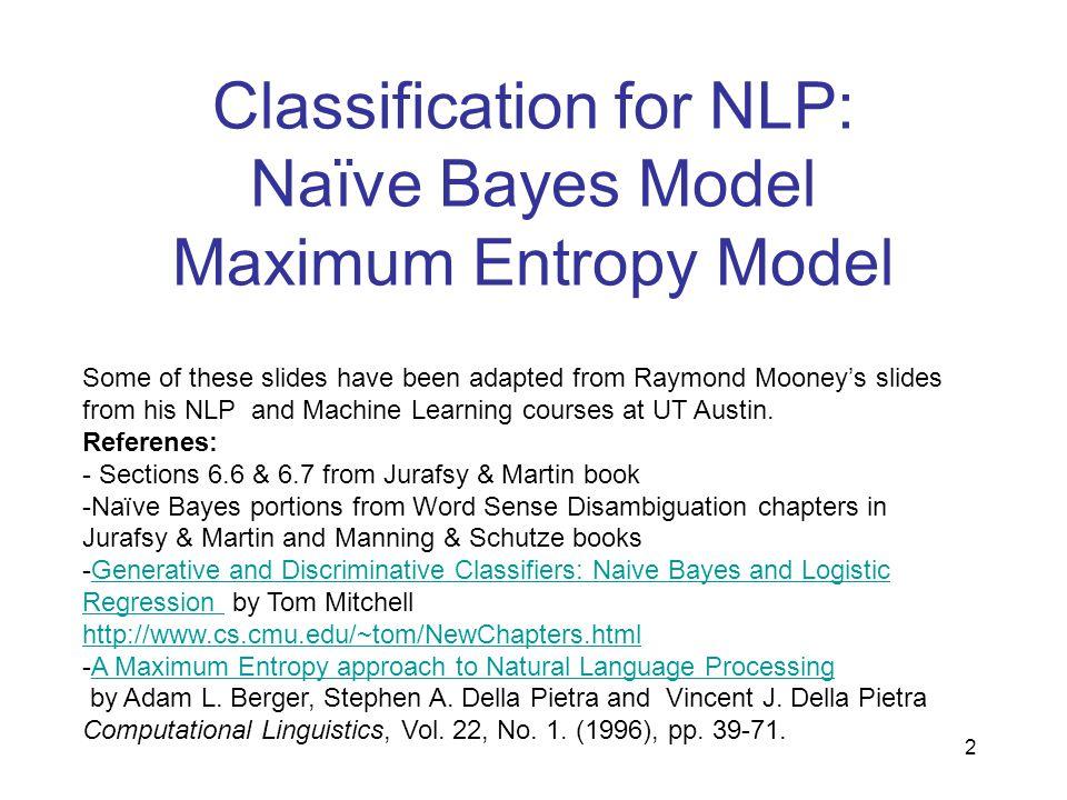 Naïve Bayes Model 3