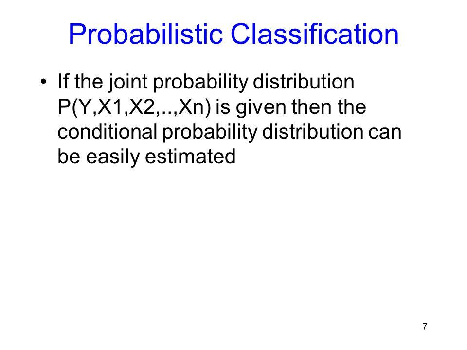 Naïve Bayes Example Probabilitypositivenegative P(Y)0.5 P(small | Y)0.4 P(medium | Y)0.10.2 P(large | Y)0.50.4 P(red | Y)0.90.3 P(blue | Y)0.050.3 P(green | Y)0.050.4 P(square | Y)0.050.4 P(triangle | Y)0.050.3 P(circle | Y)0.90.3 Test Instance: P(Label|Size,Color,Shape) 18