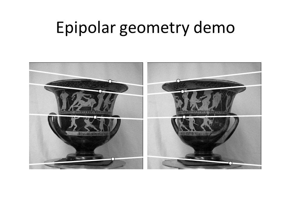 Epipolar geometry demo