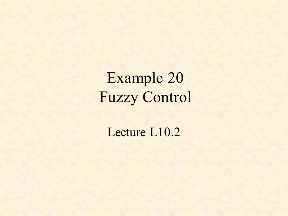 Fuzzy Control Design of a Fuzzy Controller Fuzzification of inputs –MEM and fill_weights() Processing the Rules –REV and fire_rules(…) Output Defuzzification –WAV and calc_output(…)