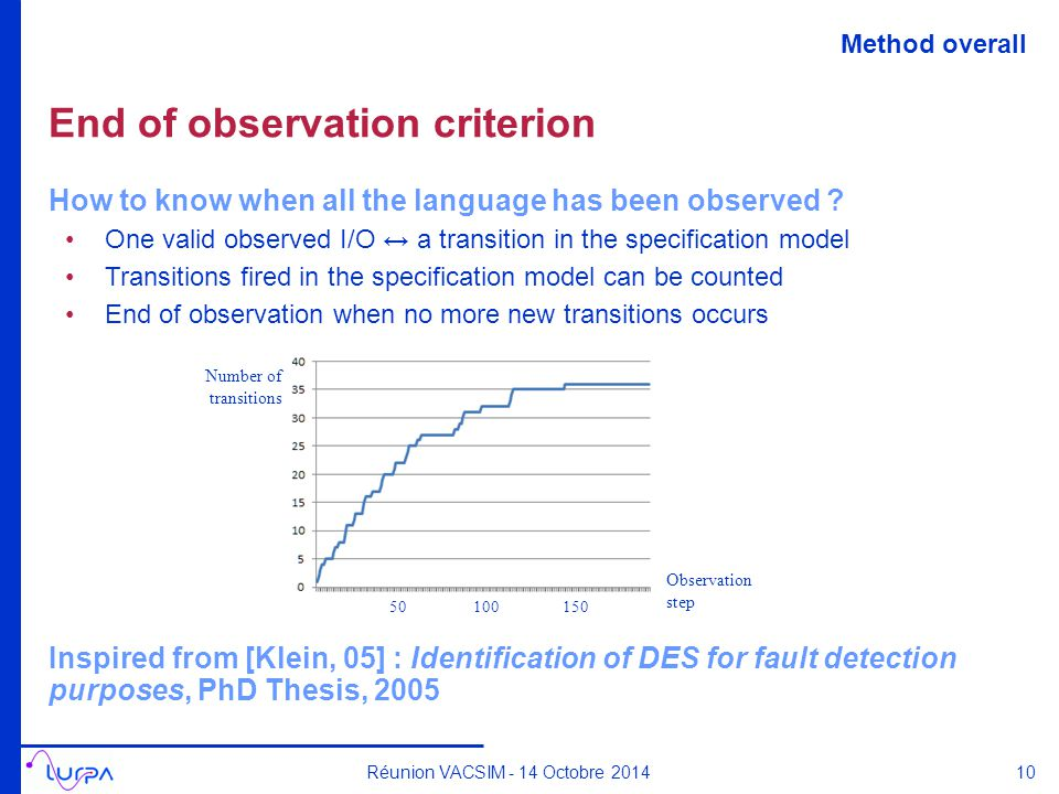 End of observation criterion How to know when all the language has been observed .