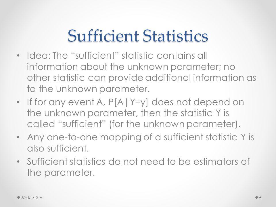 Sufficient Statistics 6205-Ch6 10