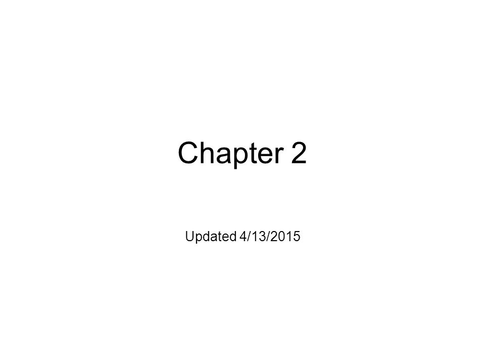 Chapter 2 Updated 4/13/2015