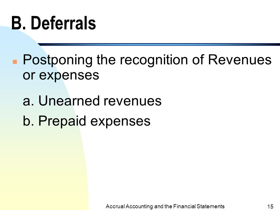 Accrual Accounting and the Financial Statements 14 b.