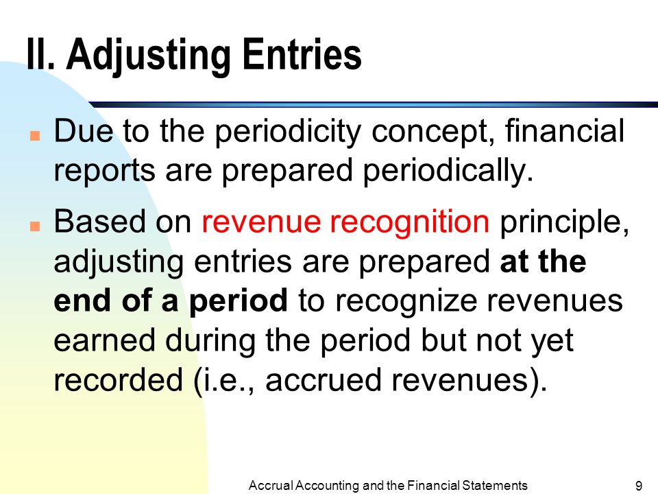 Accrual vs. Cash Basis Accounting (contd.) Cash-basis accounting: The accountant does not record a transaction until cash is received or paid. Cash-ba