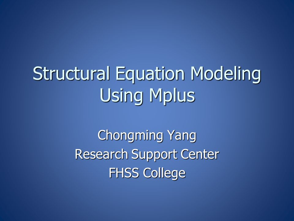 Model Specification in Mplus BY  Measured by (F by x1 x2 x3 x4) BY  Measured by (F by x1 x2 x3 x4) ON  Regressed on (y on x) ON  Regressed on (y on x) WITH  Correlated with (x with y) WITH  Correlated with (x with y) XWITH  Interact with (inter | F1 xwith F2) XWITH  Interact with (inter | F1 xwith F2) PON  Pair ON (y1 y2 on x1 x2 = y1 on x1; y2 on x2) PON  Pair ON (y1 y2 on x1 x2 = y1 on x1; y2 on x2) PWITH  pair with (x1 x2 with y1 y2 = x1 with y1; y1 with y2) PWITH  pair with (x1 x2 with y1 y2 = x1 with y1; y1 with y2)