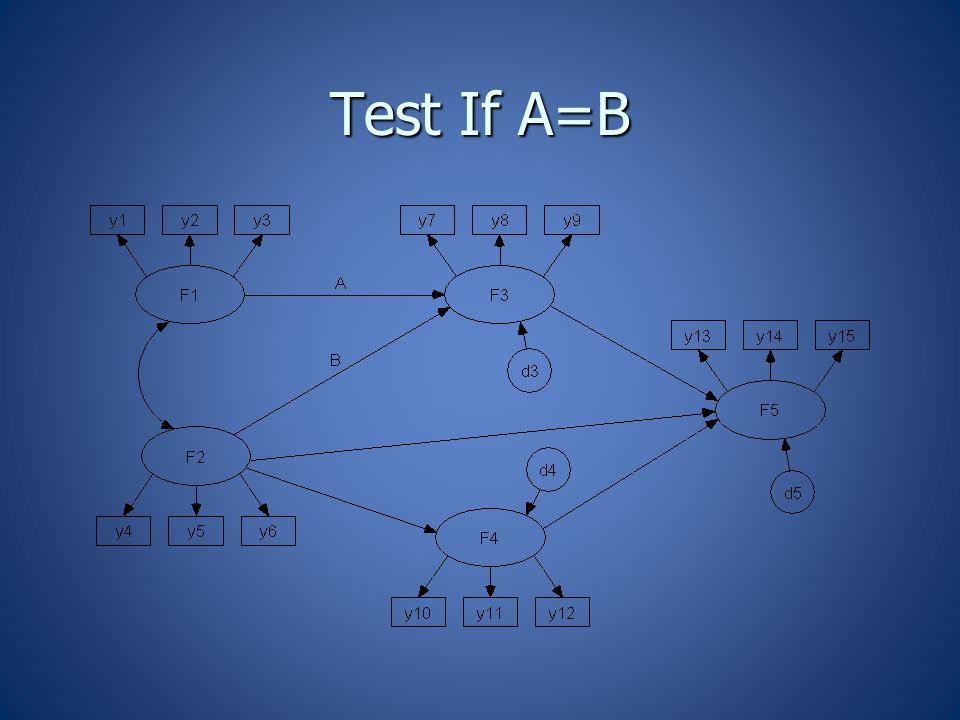Test If A=B