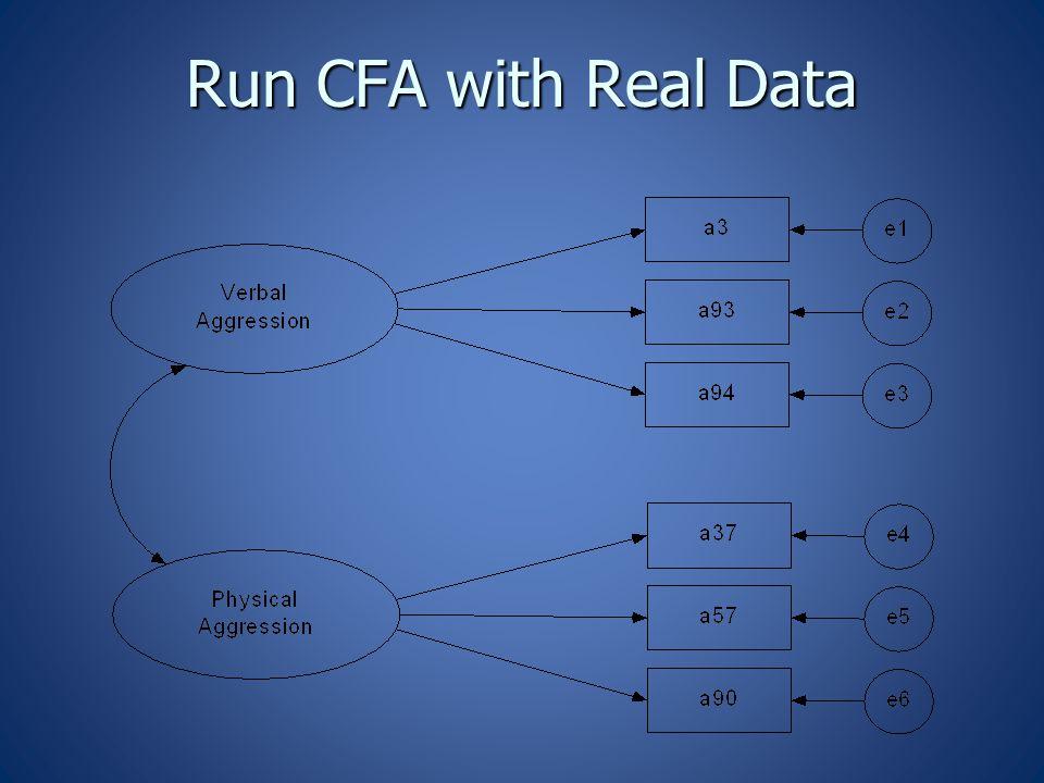 Run CFA with Real Data