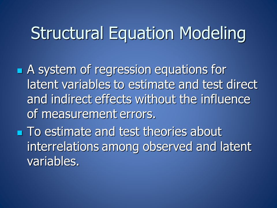 Consequences of Violation Inflated  2 & deflated CFI and TLI  reject plausible models Inflated  2 & deflated CFI and TLI  reject plausible models Inflated standard errors  attenuate factor loadings and relations of latent variables (structural parameters) Inflated standard errors  attenuate factor loadings and relations of latent variables (structural parameters) (Cause: Sample covariances were underestimated)