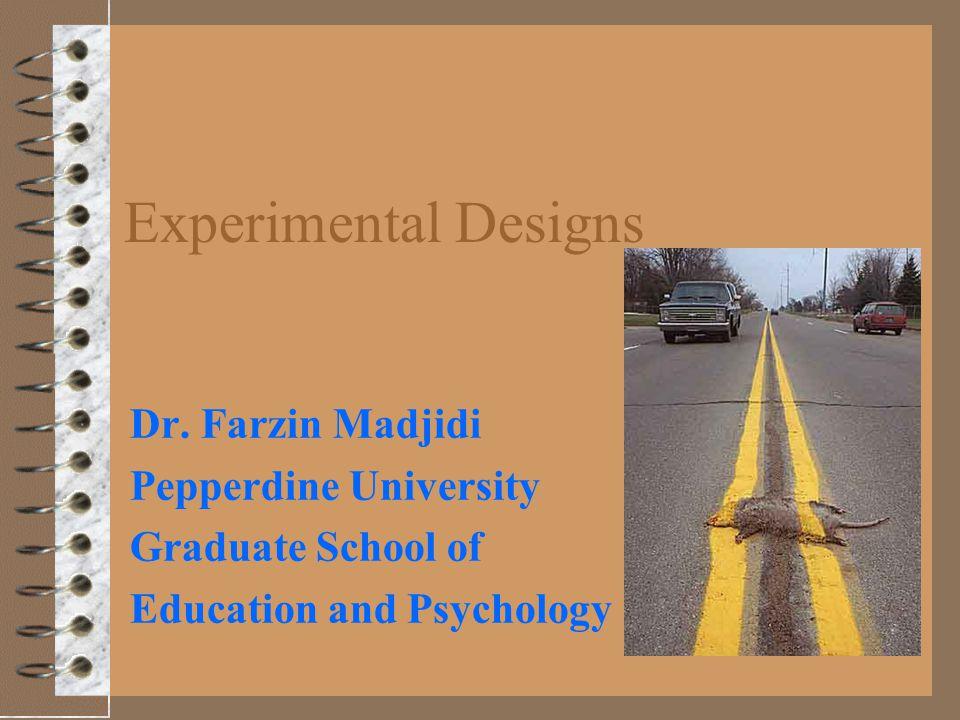 Experimental Designs Dr.
