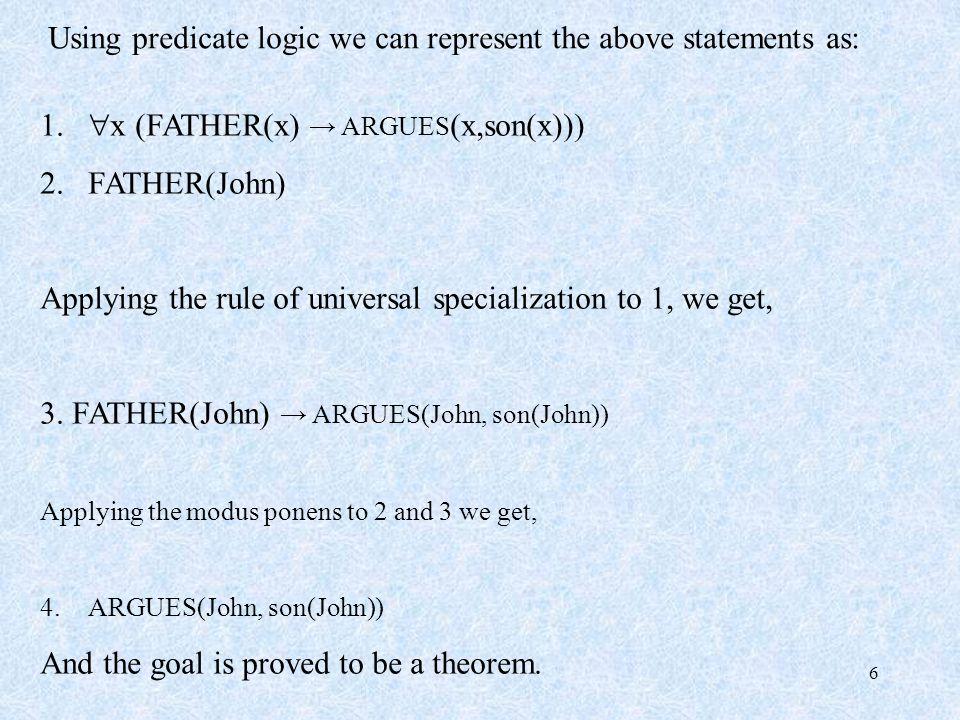 7 Predicate logic is semi-decidable.