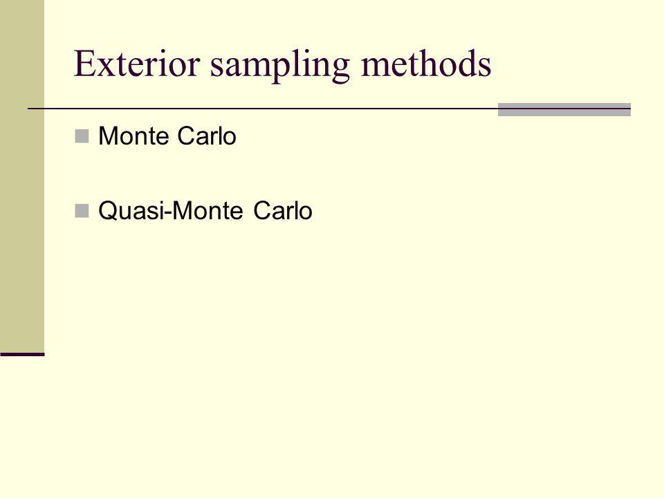Exterior sampling methods Monte Carlo Quasi-Monte Carlo