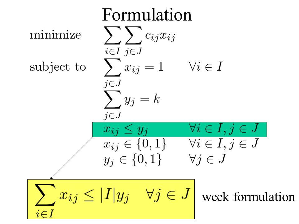 Formulation week formulation