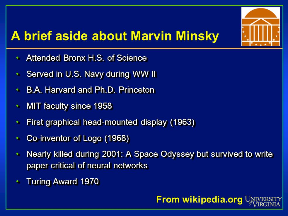 A brief aside about Marvin Minsky Attended Bronx H.S.