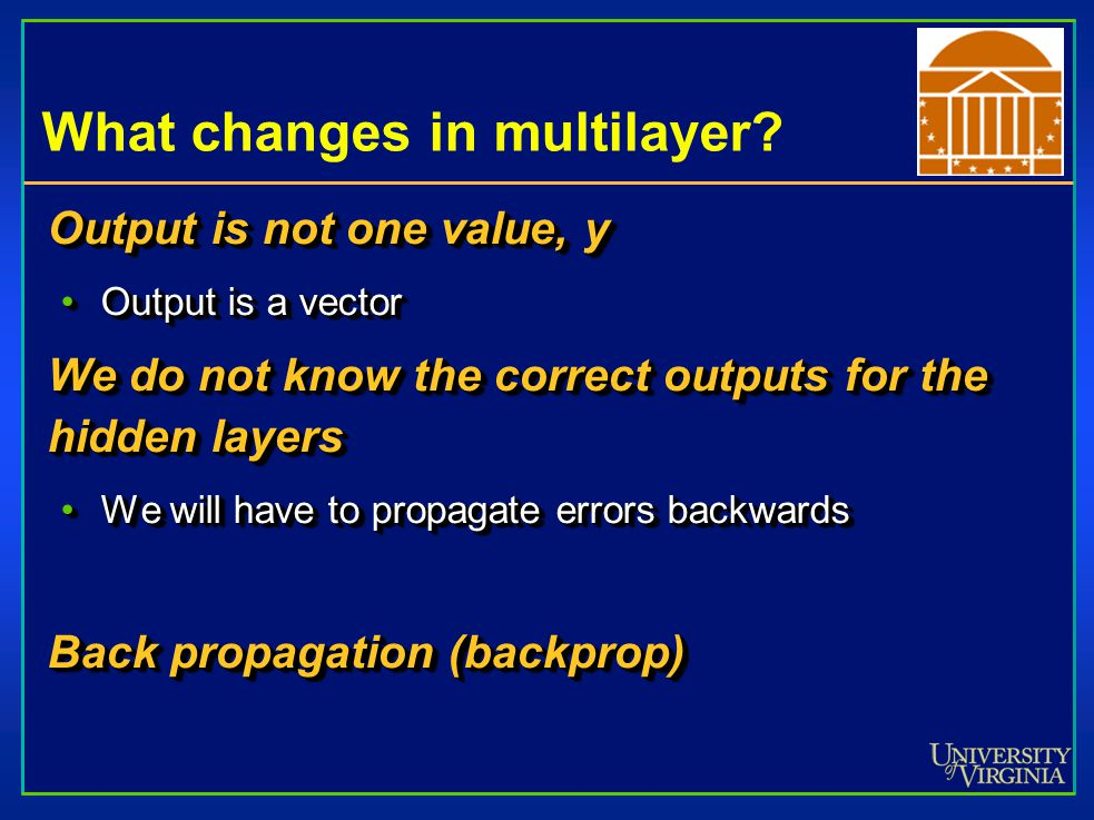 What changes in multilayer.