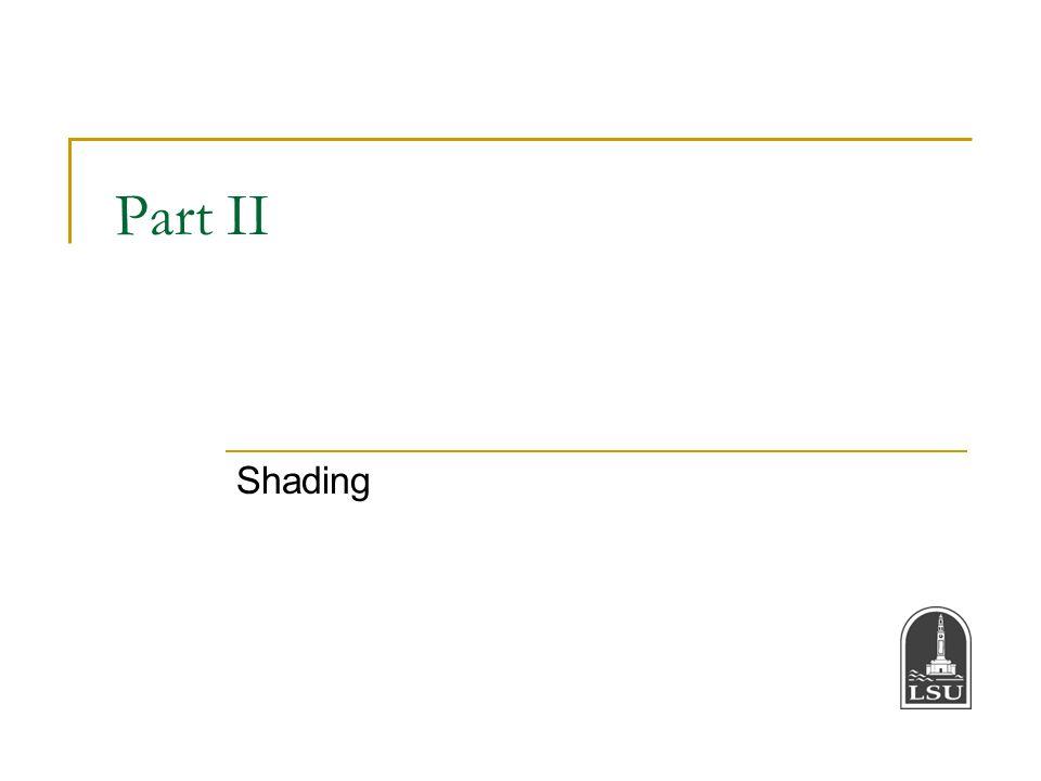 Part II Shading