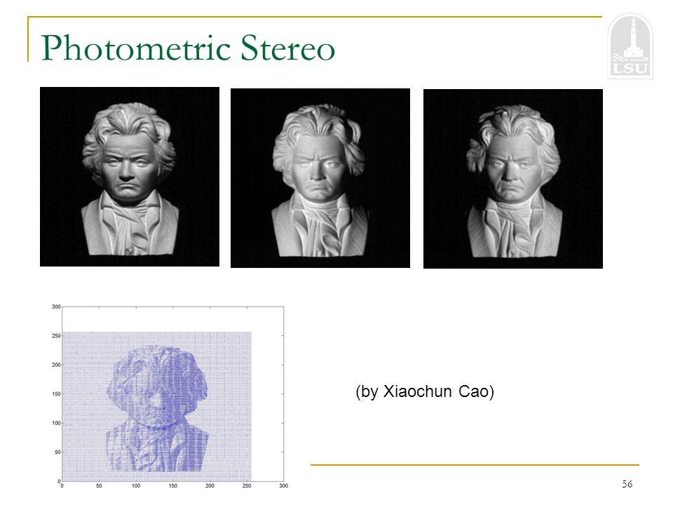 Bahadir K. Gunturk56 Photometric Stereo (by Xiaochun Cao)