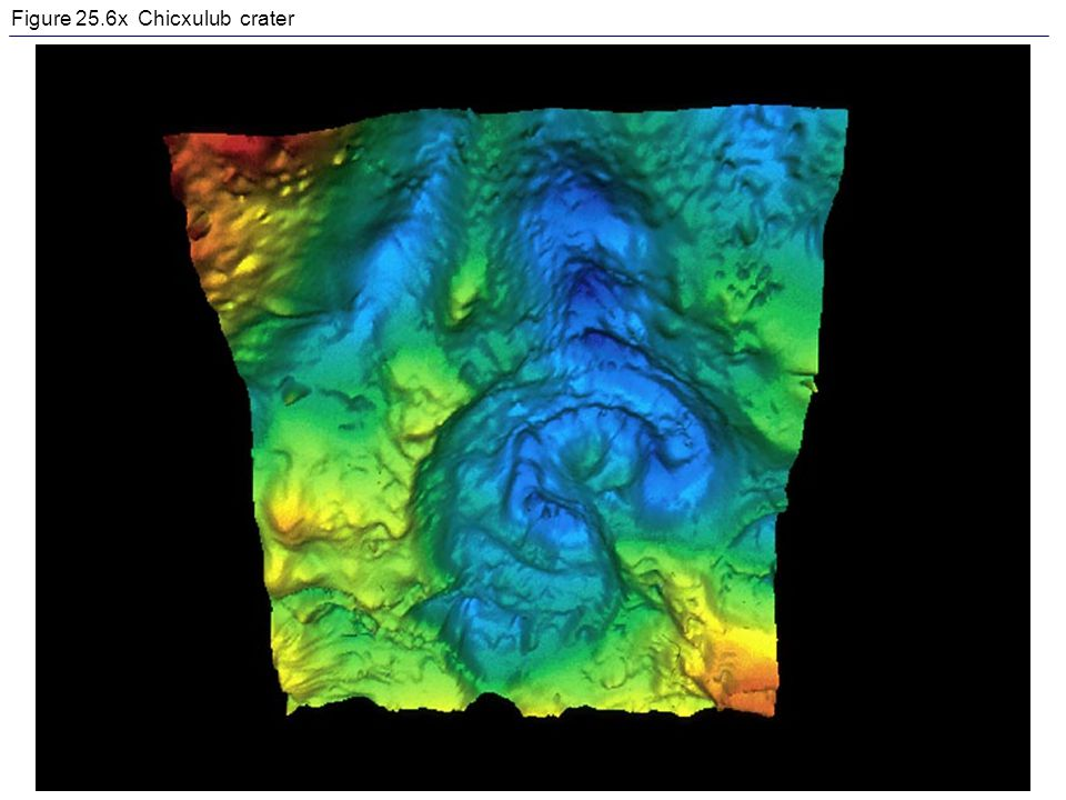 Figure 25.6x Chicxulub crater