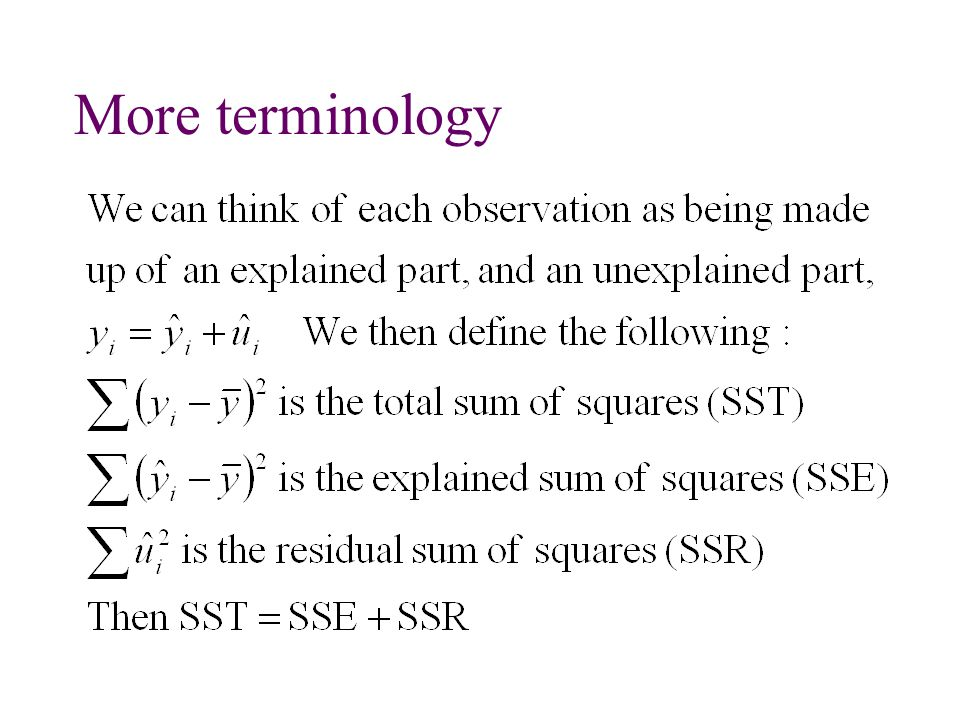 More terminology