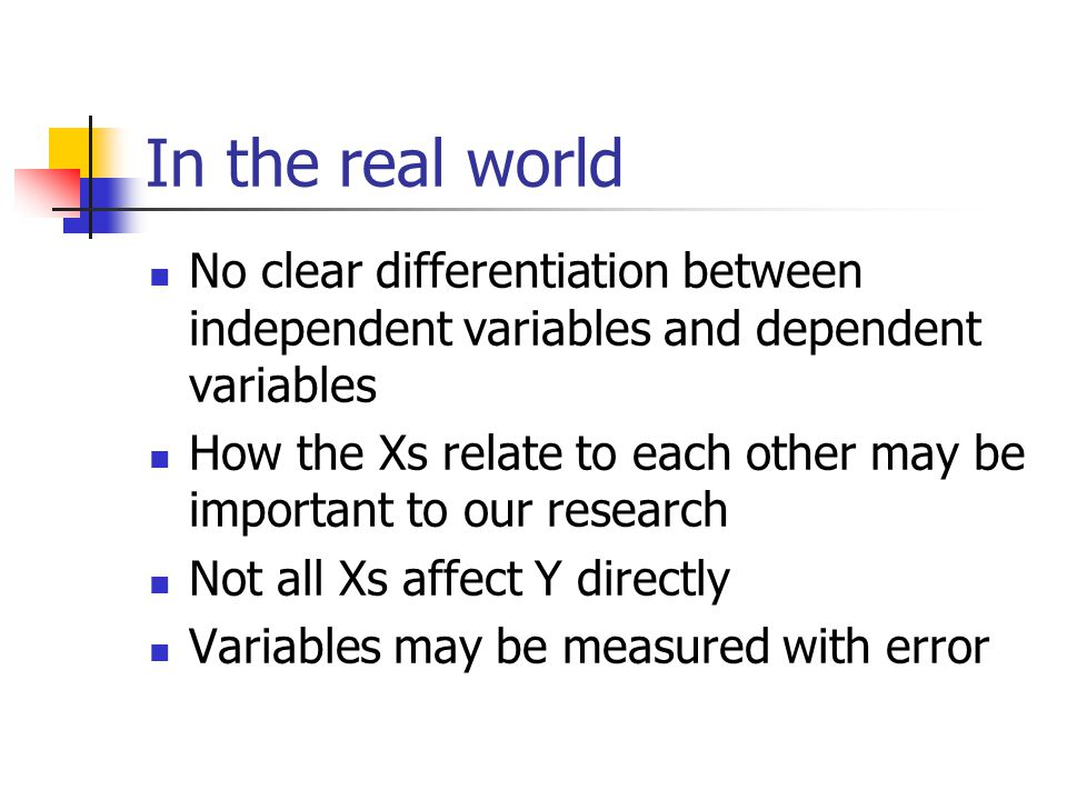 The Main Assumptions Similar to multiple regression Except for 1) Correlation between endogenous vars and disturbances 2) Multivariate normality