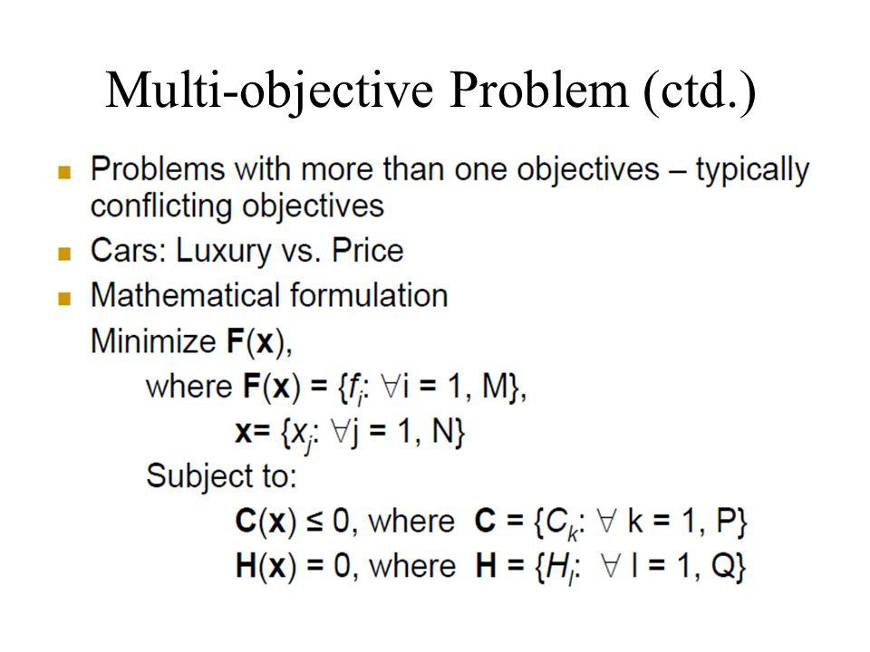 Multi-objective Problem (ctd.)