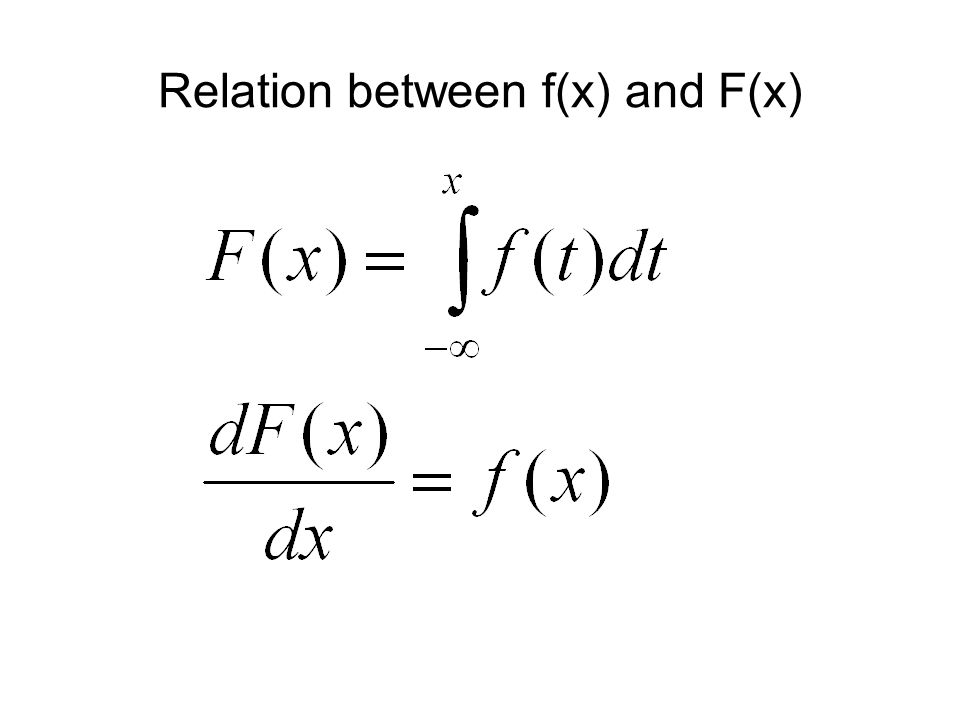 Relation between f(x) and F(x)