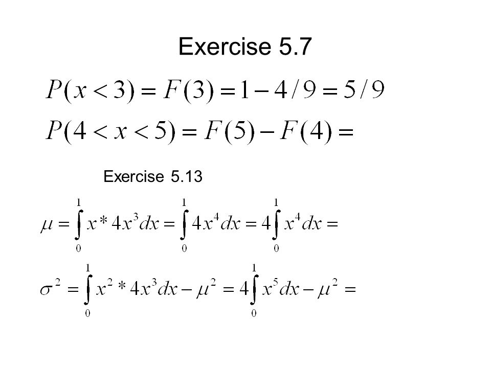 Exercise 5.7 Exercise 5.13