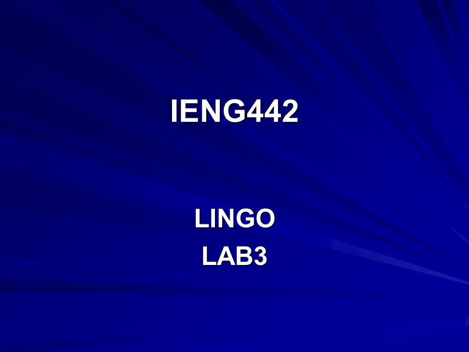 IENG442 LINGOLAB3