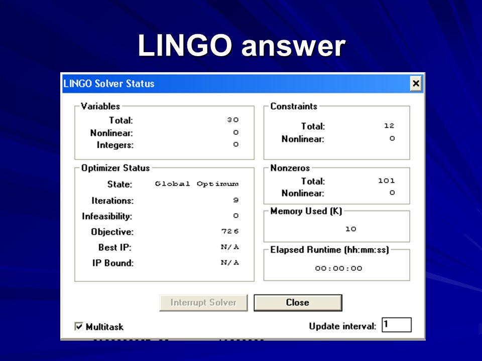 LINGO answer