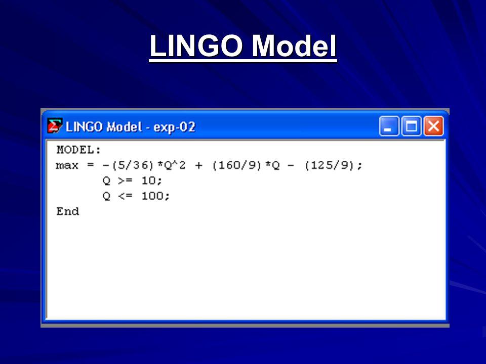 LINGO Model