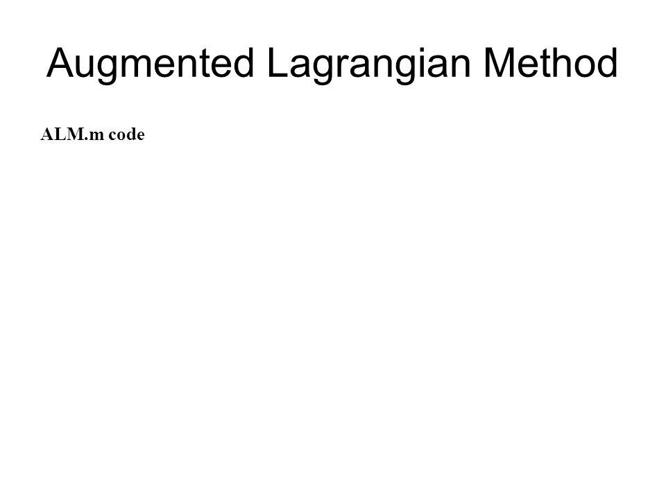 Augmented Lagrangian Method ALM.m code