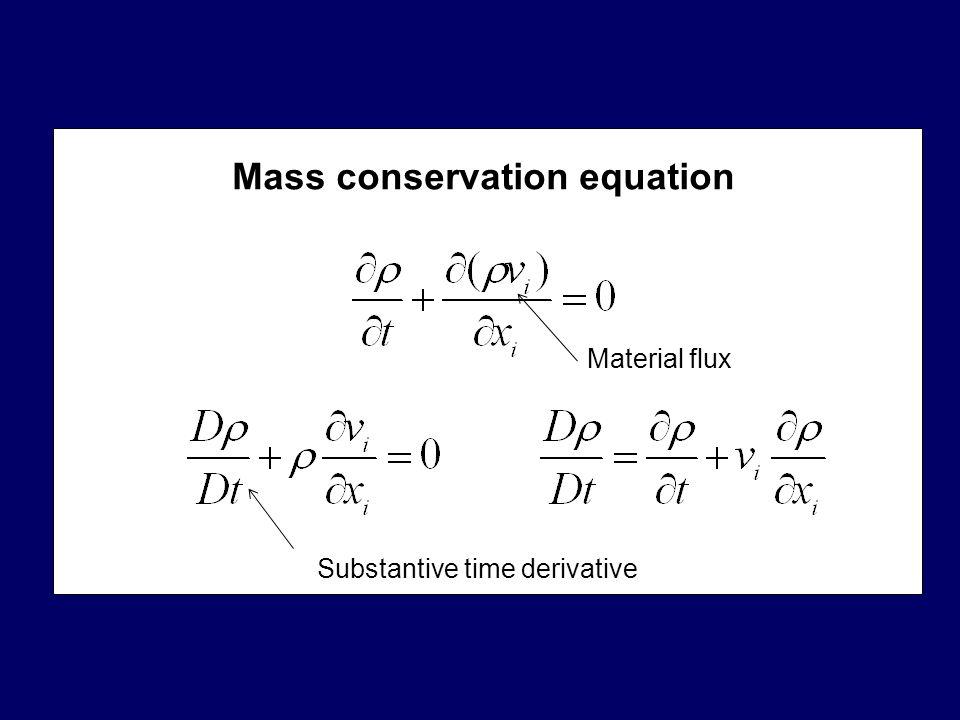Mass conservation equation