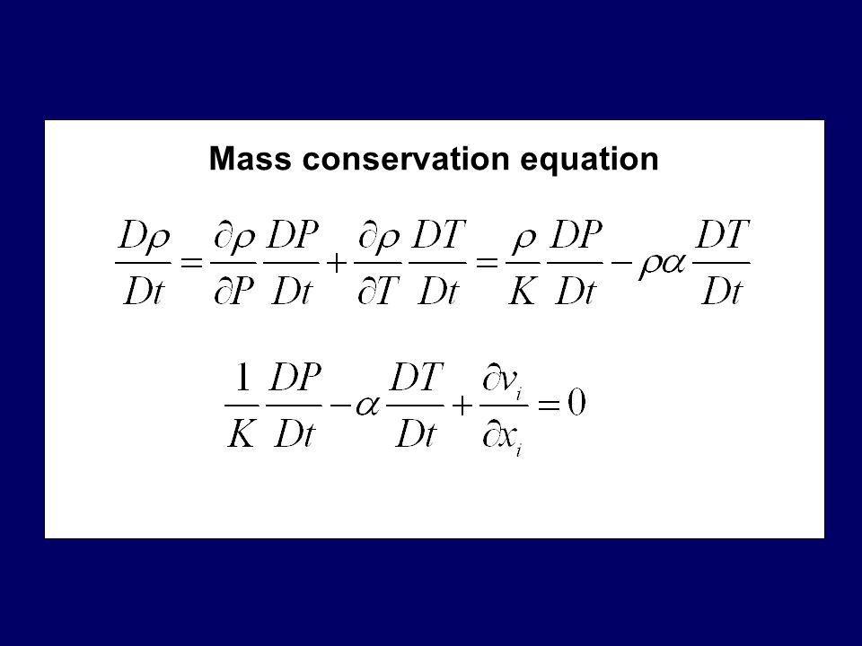 Momentum conservation equation Substantive time derivative