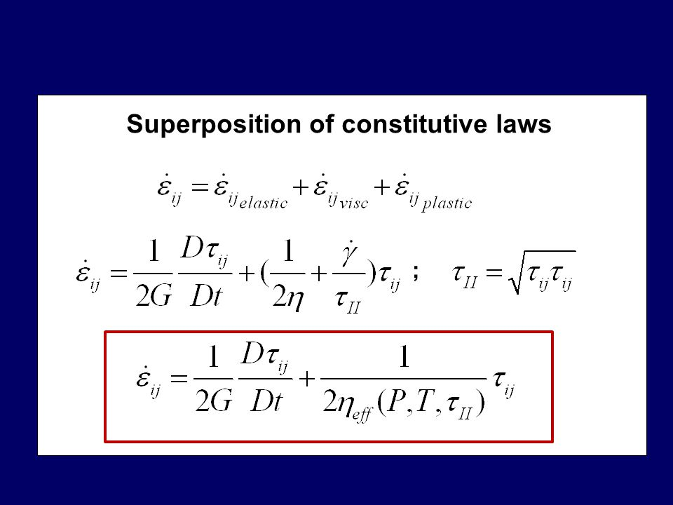 Superposition of constitutive laws ;