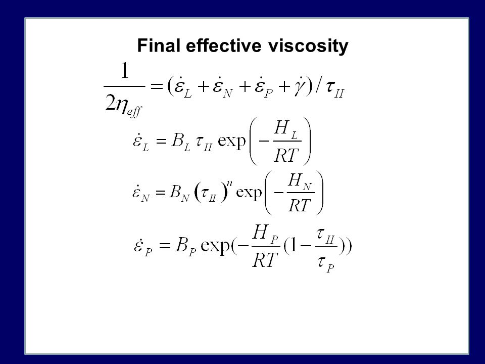Final effective viscosity