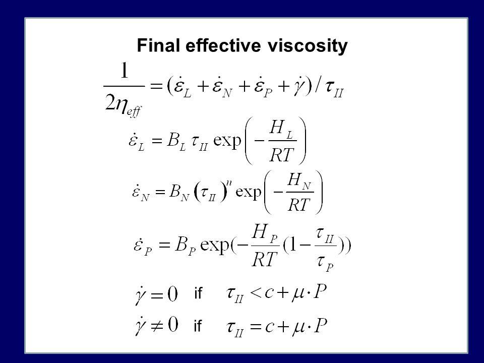 Final effective viscosity if