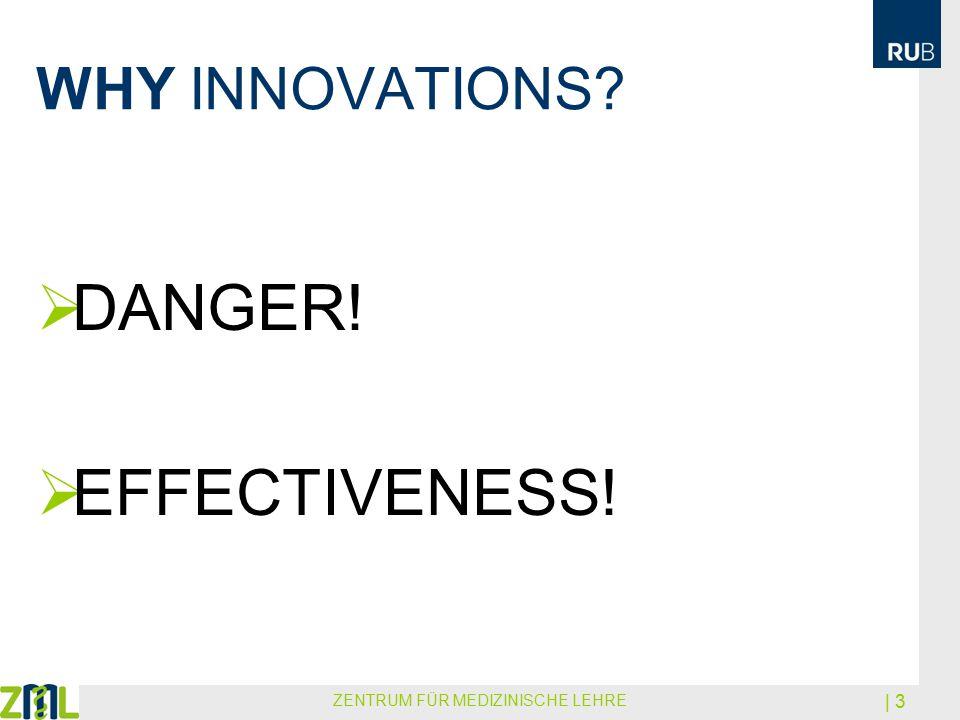 WHY INNOVATIONS?  DANGER!  EFFECTIVENESS! ZENTRUM FÜR MEDIZINISCHE LEHRE | 3